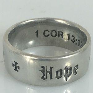 Hope Faith Love Ring